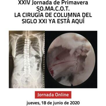 XXIV JORNADA DE PRIMAVERA SO.MA.C.O.T. 2020